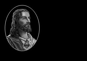 MOD.308 CORAZÓN DE JESÚS OVALO